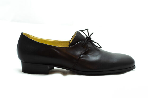 calzatura nero con lacci nicolao atelier 3