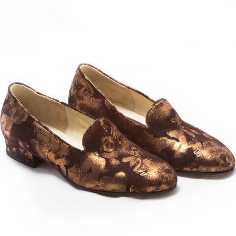 calzatura pantofola marrone nicolao atelier 1