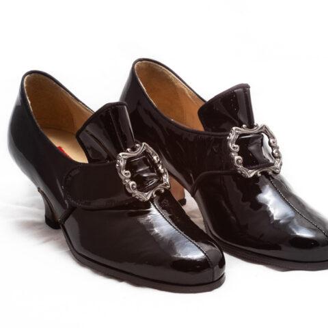 calzatura vernice nera nicolao atelier