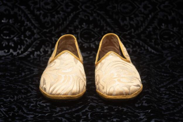 pantofola gialla con ricami donna nicolao atelier 3