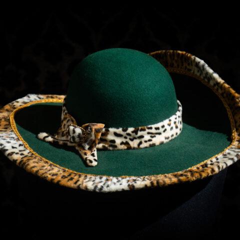 cappello verde feltro nicolao atelier venezia